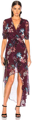 Nicholas Floral Wrap Drape Dress