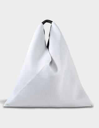 MM6 MAISON MARGIELA Japanese Large Bag in White Net Fabric
