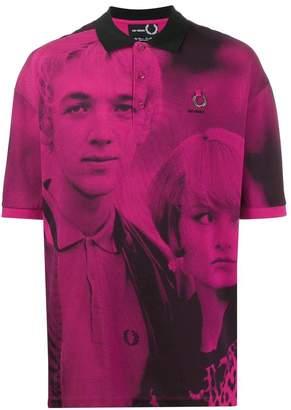 Fred Perry X Raf Simons x Raf Simons raf simons x pink polo shirt