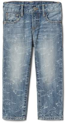 Gap Straight Jeans in Dino Print