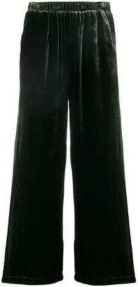 Gold Hawk velvet cropped trousers