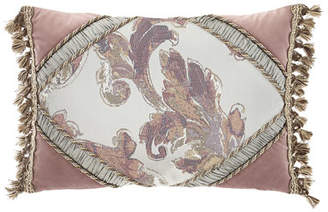 Dian Austin Couture Home Serafina Pieced Oblong Pillow with Tassels