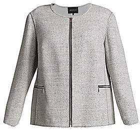 Lafayette 148 New York Lafayette 148 New York, Plus Size Women's Kerrington Woven Zip Jacket