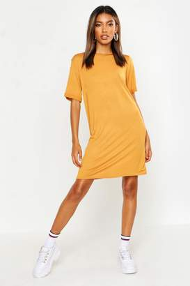 boohoo Turn Back Cuff Shift Dress