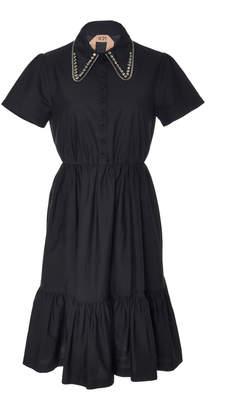 N°21 N 21 Ilda Cotton-Blend Embroidered Shirt Dress