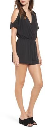 Women's Sun & Shadow Cold Shoulder Romper $45 thestylecure.com