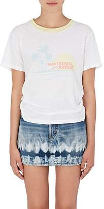 Saint Laurent Women's Sunset-Print Cotton T-Shirt