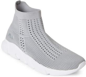 Fila Grey & White Sauza Stretch Knit Sneakers