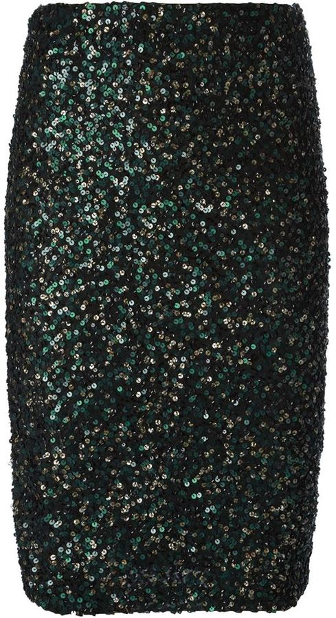 Alice+Olivia sequin embellished pencil skirt