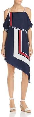 Joie Edyte Color-Blocked Cold-Shoulder Dress