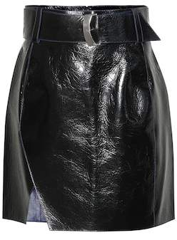 Thierry Mugler Leather miniskirt