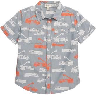 Hatley Fire Trucks Print Woven Shirt