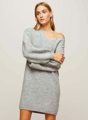 Miss Selfridge Grey Slouchy Knitted Dress