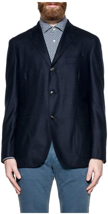 BoglioliNight Blue Wool And Cashmere Blazer