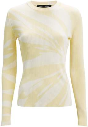 Proenza Schouler Yellow Tie-Dye Knit Top