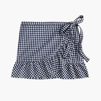 J.Crew Ruffle cover-up wrap skirt in classic gingham