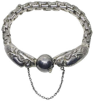 One Kings Lane Vintage Chinese Sterling Dragon Bracelet - Little Treasures