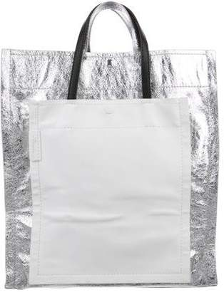 3.1 Phillip Lim Metallic Accordion Shopper