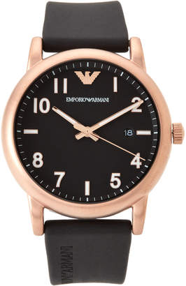 Emporio Armani AR11097 Rose Gold-Tone & Black Watch