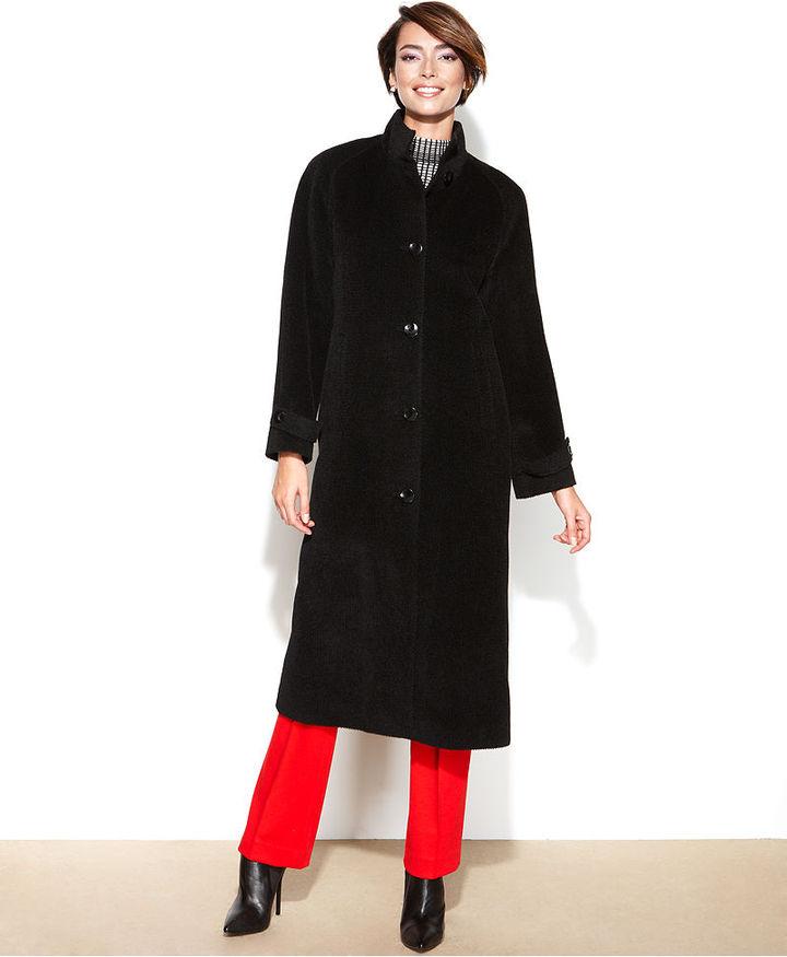 Jones New York Coat, Alpaca-Blend Maxi Walker
