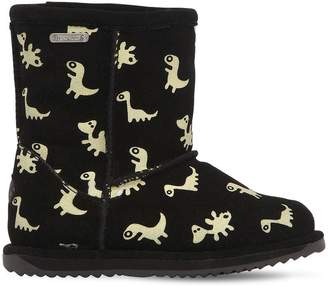 Emu Dino Glow-In-The-Dark Suede Boots