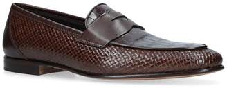 Stemar Crocodile Interwoven Loafers