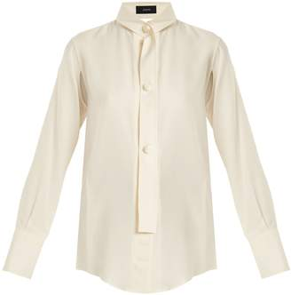 Joseph Harold high-neck silk-blend blouse