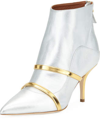 Malone Souliers Madison Two-Tone Metallic Booties