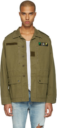 Saint Laurent Green 'Sweet Dreams' Military Jacket $1,990 thestylecure.com