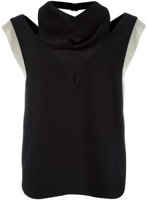 Lanvin cut out contrast top