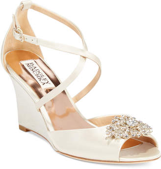 Badgley Mischka Abigail Evening Wedge Sandals Women Shoes