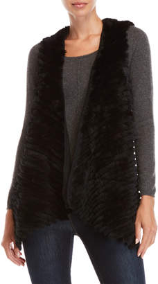 Equipment Love Token Ribbed Real Fur Vest