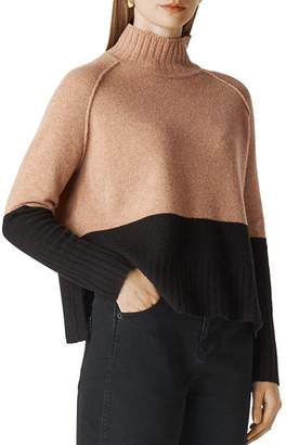 Whistles Color-Blocked Merino Wool Sweater