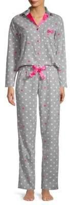 Betsey Johnson Two-Piece Polka Dot Pajama Set