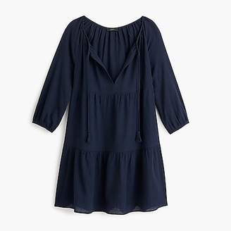 J.Crew Tiered beach tunic in crinkle cotton