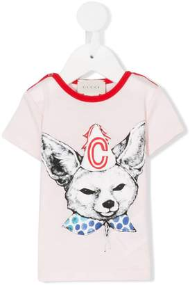 Gucci Kids birthday fox print T-shirt