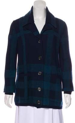 Burberry Wool Patterned Cardigan
