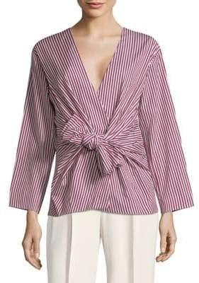 Diane von Furstenberg Long Sleeve Waist Tie Blouse