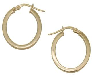 Adara 9 ct Yellow Gold 18 mm Oval Plain Creole Earrings mDechGOe