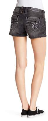 Rock Revival Topstitch Denim Shorts