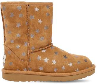 UGG Stars Print Shearling Boots