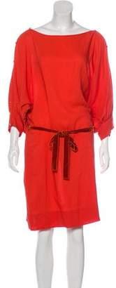 Stella McCartney Silk & Wool Knee-Length Dress
