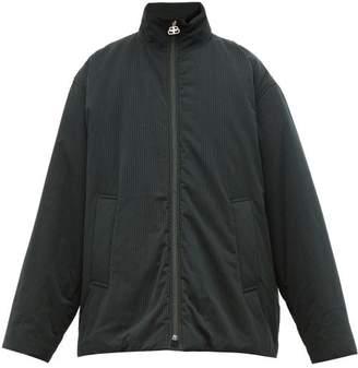 Balenciaga Pinstripe Cotton Shell Jacket - Mens - Black Multi