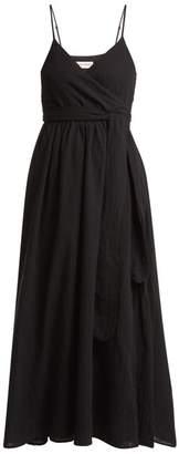 Mara Hoffman Alma Cotton Wrap Dress - Womens - Black