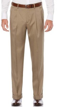 Savane Big & Tall Pleated Stretch Crosshatch Dress Pant