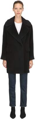 Tagliatore Lama & Wool Blend Coat