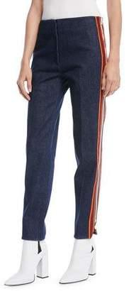 Calvin Klein Side Stripe Zipper Skinny-Leg Jeans