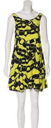 Piamita Chain-Link Printed Silk Dress