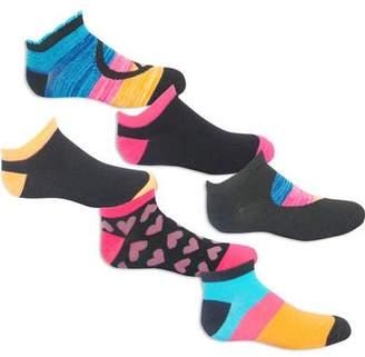 Faded Glory Peace Sign Low Cut Socks, 6 Pairs (Little Girls & Big Girls)
