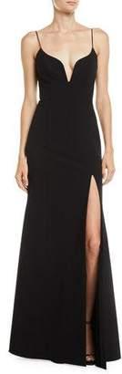 Jill Stuart High-Slit Body-Con Gown